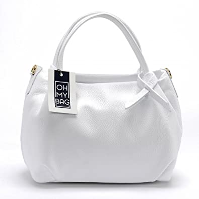cdfa886dfb OH MY BAG Sac à main en cuir Bubble blanc: Amazon.fr: Chaussures et Sacs