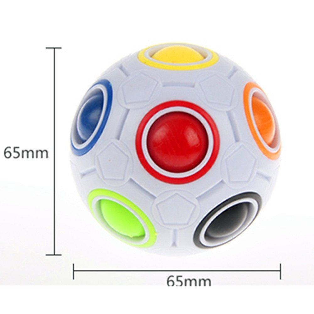 CuberSpeed Rainbow Ball Magic Fidget Toy Puzzle Magic Rainbow Ball Puzzle Fun Fidget