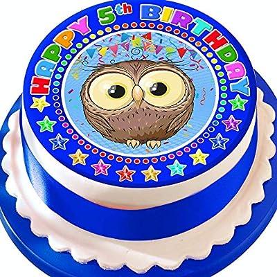 Decoración comestible para tarta con diseño de búho para 5 ...