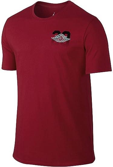 7cc73feed6fb40 Nike mens Air Jordan 2 23 Wings Tee 789611-687 2XL - Gym Red Black at  Amazon Men s Clothing store