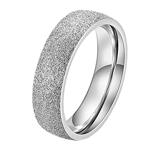Amazon.com: Anillo de boda de acero inoxidable unisex de ...