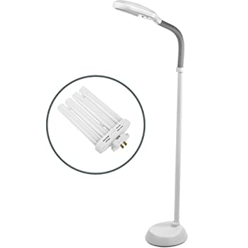 Andrew james 138cm floor lamp with daylight simulating bulb with andrew james 138cm floor lamp with daylight simulating bulb with adjustable gooseneck design for reading mozeypictures Image collections