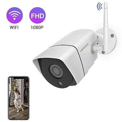 wandwoo Security Camera Outdoor, 1080P Wireless WiFi IP Camera