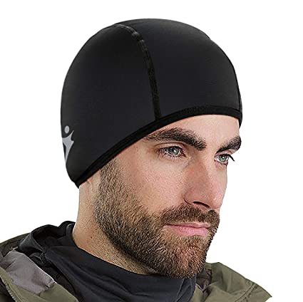Amazon.com   Runhit Skull Cap - Thermal Helmet Liner for Cycling ... 3aa7b1772