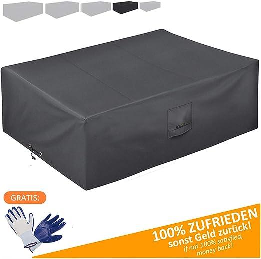 Funda Protectora para Muebles de jardín 200 * 160 * 80 cm-recubierta de PVC-Impermeable/Resistente a los Rayos UV/Impermeable-con Aberturas de ventilación-Bonus: Guantes de jardinería: Amazon.es: Jardín