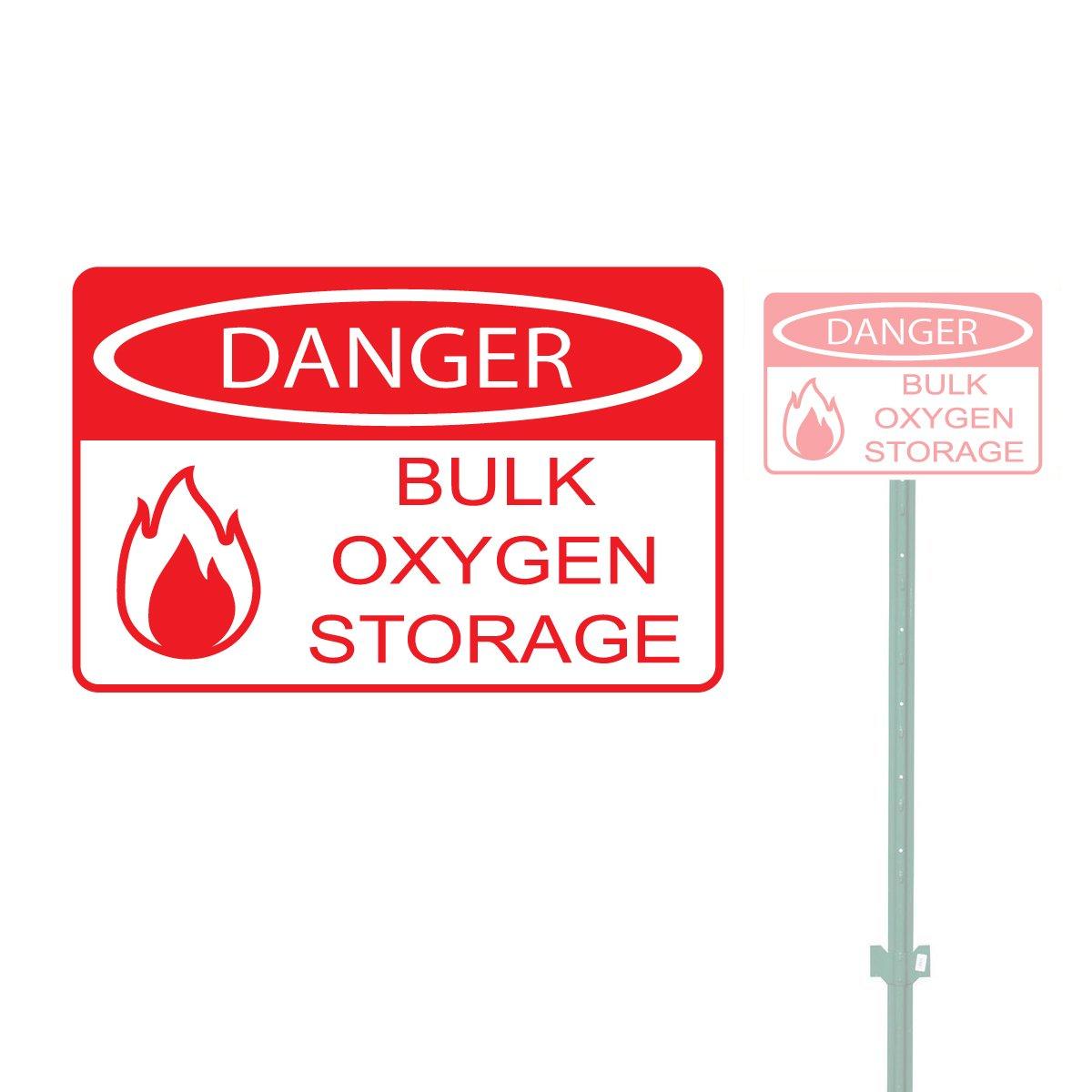 DANGER BULK OXYGEN STORAGE HEAVY DUTY ALUMINUM SIGN 10'' x 15''