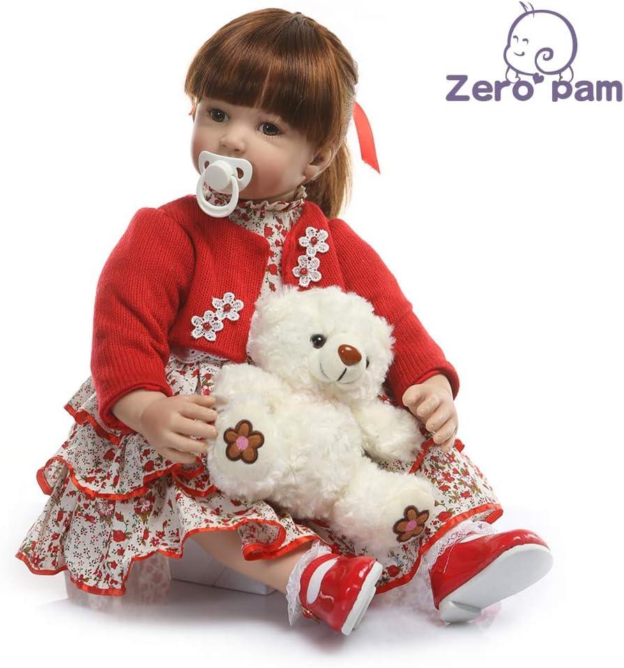 Zero Pam Reborn Baby Dolls Toddler Dolls Pink Fairy Girl Golden Curly Hair Life Like Reborn Caucasian Child Dolls Soft Body Realistic Kid Dolls Best Children Gifts