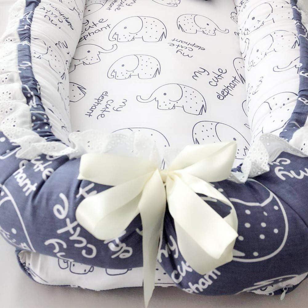 Viajar o Dormir Corona Blue elephant Nido de beb/é Enjoyfeel Desenfundable Lavable Cuna De Viaje 100/% Algod/ón Suave y Acogedora Cuna De Beb/é Newborn Para Jugar