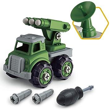 GizmoVine Coches de Juguetes para Niños, Juegos Educativos de Coche Militar como Piñatas de Cumpleaños para Muchachos y Chicas Construccion Camiones ...