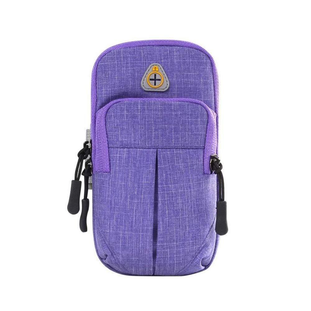 Lsgepavilion Unisex Fitness Running Arm Bag Outdoor Sport Phone Holder Pouch with Earphone Hole Lightweight