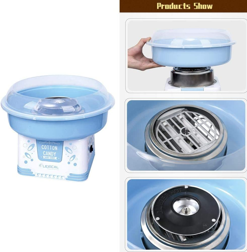 Cotton Candy Machine Cotton Candy Makers Electric Marshmallows Machine Works with Sugar Floss Hard Candy Homemade Sweets for Children's Day Party Birthday Wedding A: Blue