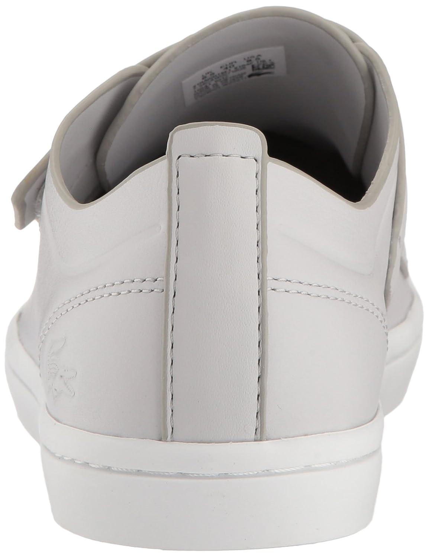 Lacoste Women's Straightset Strap 118 1 Caw Sneaker B072R3YVXD 6.5 B(M) US|Light Grey/White