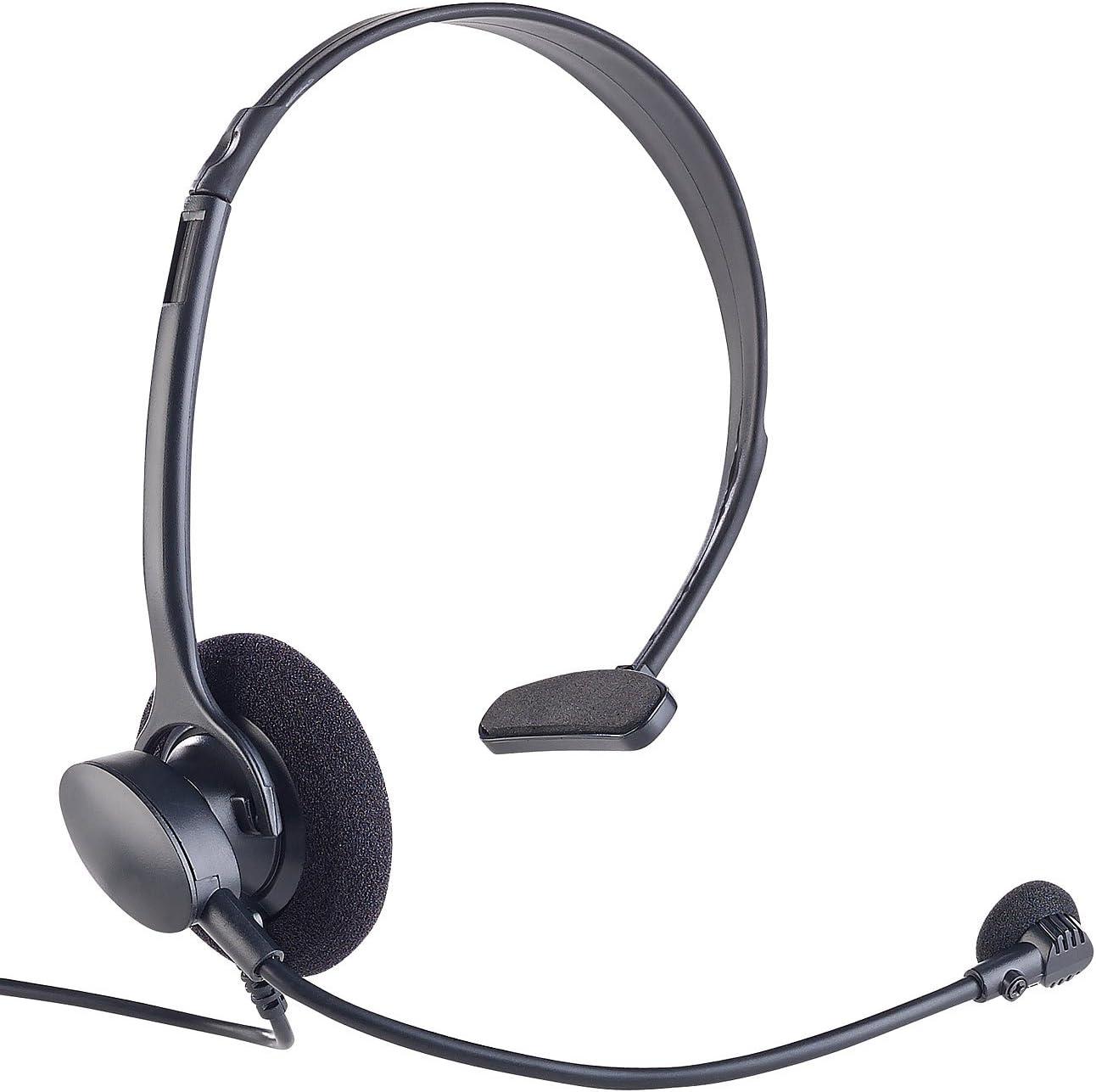 Callstel Profi-Telefon-Headset inklusive Connector-Box für Festnetz-Telefone
