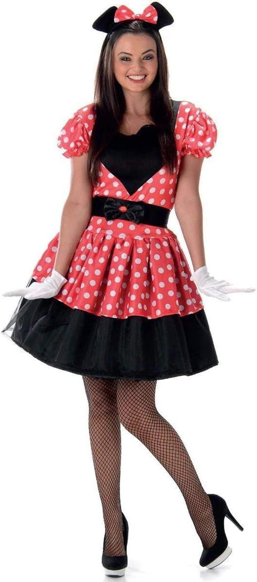 Disfraz de Miss Mouse mujer M: Amazon.es: Juguetes y juegos
