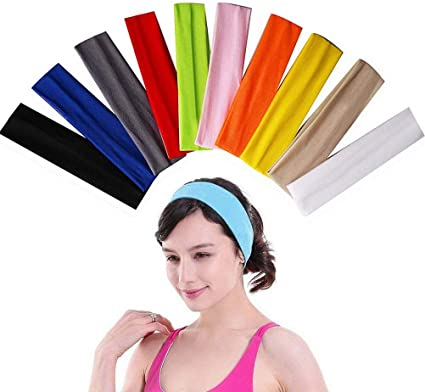 Elastic Headbands Yoga Hair Bands Sweat Band Hairband Stretch Ribbon Headwear
