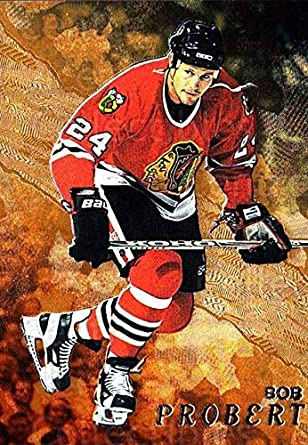 Amazon.com  (CI) Bob Probert Hockey Card 1998-99 Be A Player Gold ... 6e4111b09