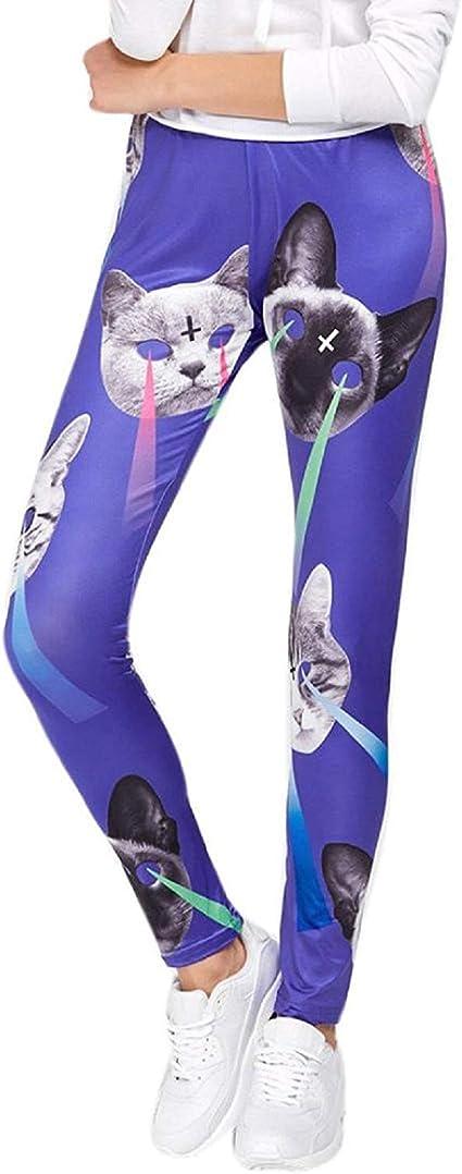BoBo-88 Mujeres Hombres Chicas Imprimir Gato Deporte Leggings Yoga Entrenamiento Gimnasio Especial Estilo Pantalones Deportivos Estirar Leggings Delgados Pantalones: Amazon.es: Ropa y accesorios