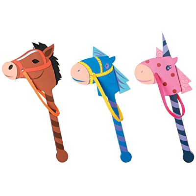 Foamies® Horse on a Stick - Assorted Colors - 22 to 24 inches: Toys & Games