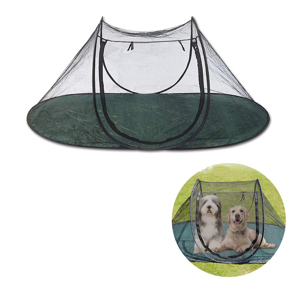 Pet Fun House, Mesh Open-Air Dog Playpen, Portable Exercise Tent with Carry Bag, for Cat Dog Puppy