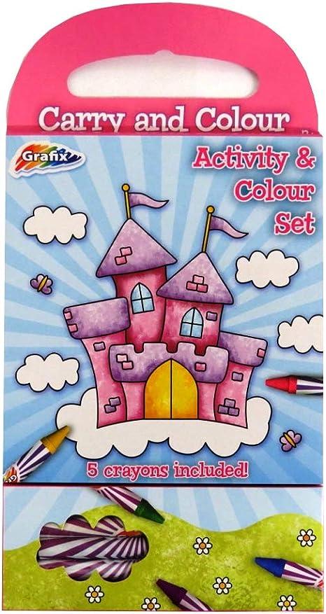 Trolls Bumper Carry Along Colouring Set Crayons Travel Acivity Kids