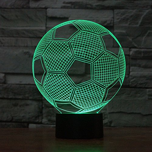 Comics+3D+Night+Lamp+ Products : Football Table Desk Lamp Acrylic 3D Night Light Touch Switch Usb 7 Colors