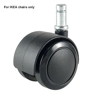 Enjoy Office Silla de escritorio ruedas de repuesto con eje de 10 mm para sillas IKEA - seguro para suelos de madera dura: Amazon.es: Oficina y papelería