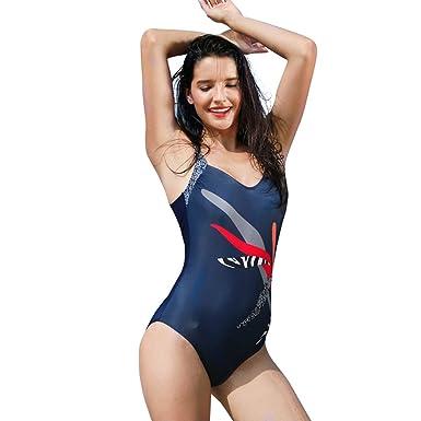 maillots de bain Femmes,Impression Floral bikini 1 pièce soutien-gorge  Maillots-Lonshell 63e831c9dff0