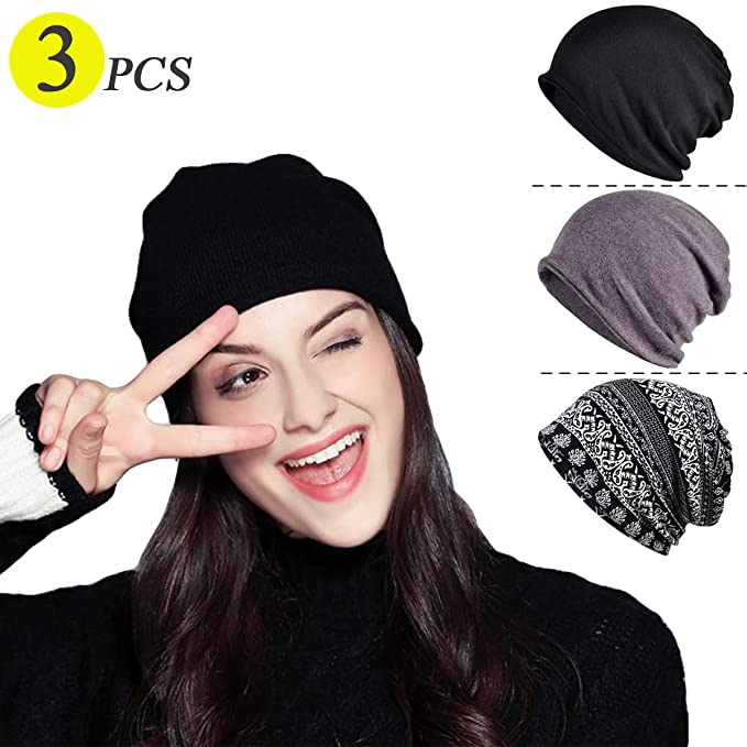 7872cccdae2 Image Unavailable. Image not available for. Color  Chemo Caps for Women  Baggy Slouchy Chemo Scarf Hat Beanie Skull Cap ...