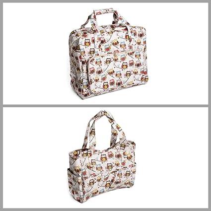 Hoot//Owl Design Premium Knitting Bag Craft Bag Gift Hobby Sewing Yarn Storage
