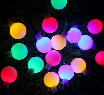 inngree solar string lights 23 ft 50 led white ball waterproof solar christmas lights for - Solar Christmas Tree