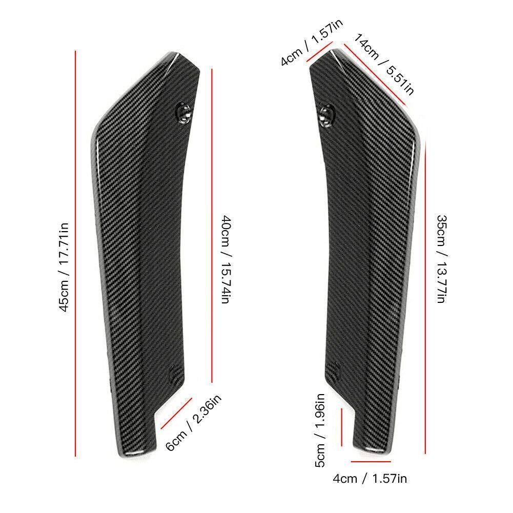 ETbotu Accessori per Auto Paraurti Posteriore Universale Divisori angolari a Labbro Diffusore Protezione Decorativa Winglet Estensioni Laterali della Gonna Nero