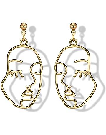 Noradtjcca 1 Pcs Women Long Earrings Punk Rock Metal Leaves Tassel Chain Dangle Ear Cuff Wrap Earrings Ear Clip Party Wedding Jewelry