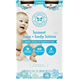 The Honest Company Fragrance-Free Face + Body Lotion, 10 oz, Pack of 2