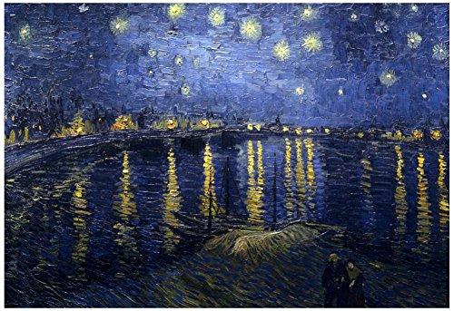 Vincent Van Gogh Starry Night Over the Rhone Starlight Art Poster Print