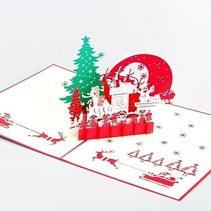 Navidad POP UP Tarjeta de felicitación, diseño de Mercedes ...