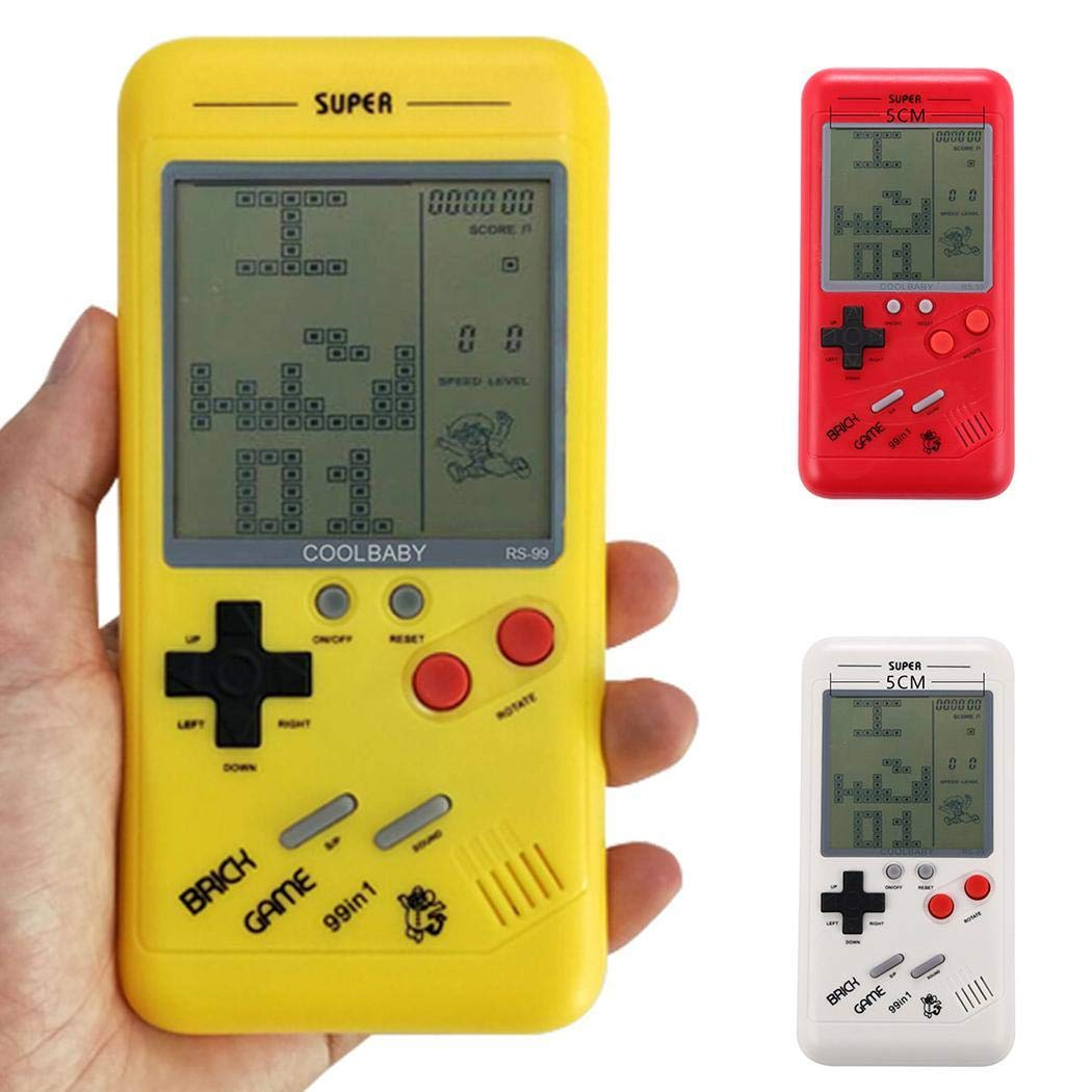 Youandmes Children Tetris Game Console, Portable Kids Game Handheld Toys