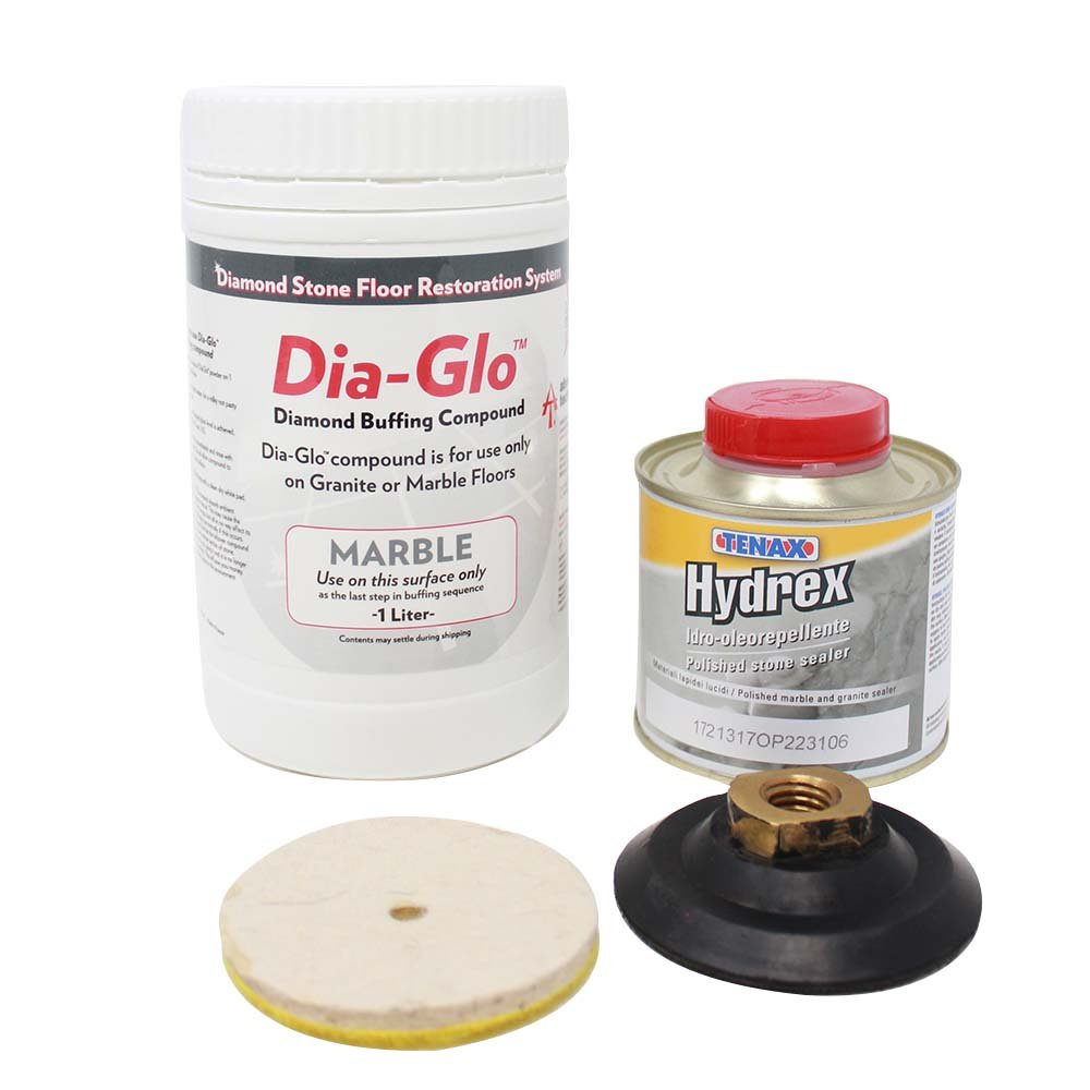 Dia-Glo Marble Complete Repolishing & Sealing Kit