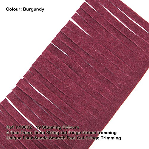 (Neotrims Vegan Faux Suede Leather Tassel Cut Fringe Trimming, Cowboy Western Fringe, 19 Colours, Boho Chic Style Edge Ribbon for Costume, Home Décor & Crafts. Vegetarian option to Real Seude. Great Price)