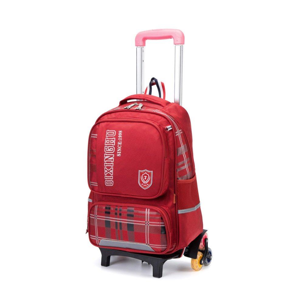 fea783070d hot sale Aibecy QXH Six-Wheel Rolling Backpack Trolley Wheeled School Bag  for Boy Girl