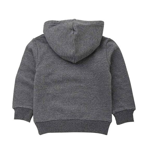 YanHoo Ropa para niños Otoño Niños Kid Boy Solid Pocket Pullover Sudadera con Capucha Outfits Tops Ropa Sudadera con Capucha y Capucha de Manga Larga con ...