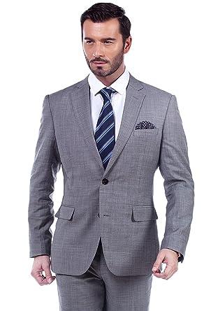 competitive price 5f818 9627f MA 100% Wolle grau Slim fit Herren Anzug (Zweiteiler) (46 ...