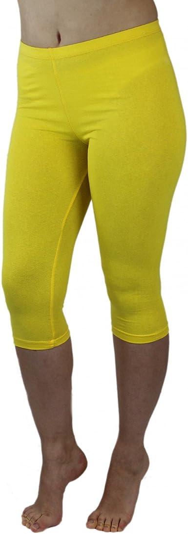 Leggins Opacas Pantalones Capri de Algodón Colorido Polainas 3/4 Longitud para Mujer: Amazon.es: Ropa y accesorios
