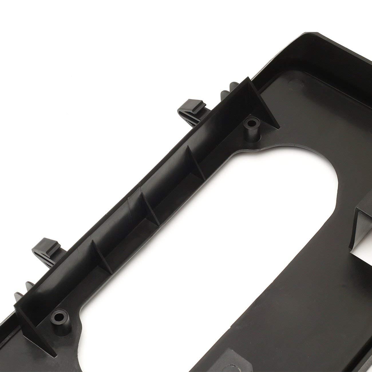 Elviray Support de Plaque dimmatriculation pour Pare-Chocs Avant de Voiture Auto en Plastique Support de Montage pour Accessoires de Voiture Ford F150 2009-2014