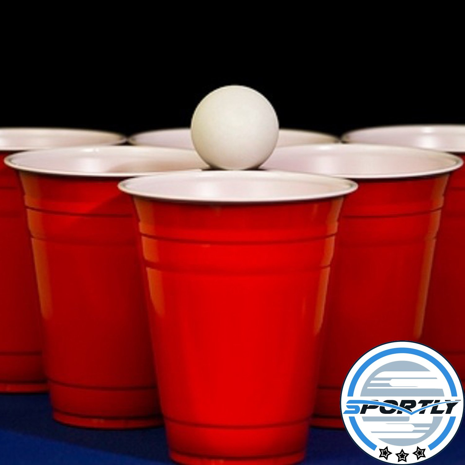 Super Beer Pong Trash Cans As Red Solo Cups And A Volleyball The Ping Ball
