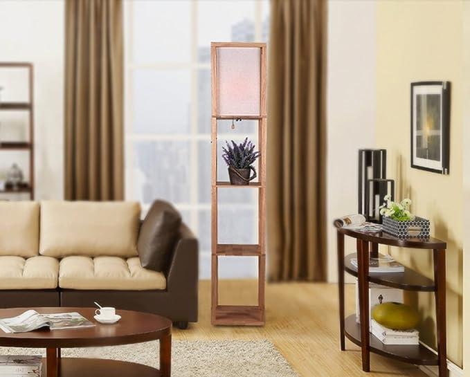 Fiofe modern chinese semplice tavolo di legno lampada verticale