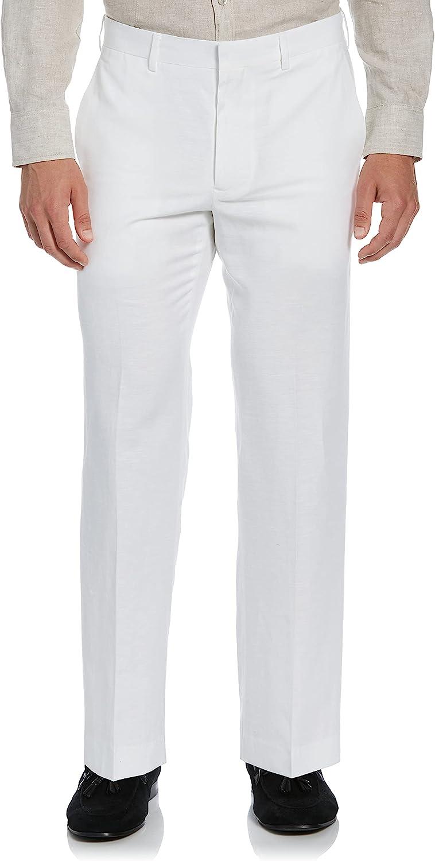 Cubavera Men's Easy Care Manufacturer OFFicial shop Pant Dress Flat-Front Linen-Blend Over item handling ☆