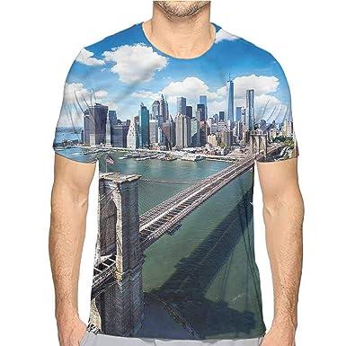6b8b5d4caacd84 Amazon.com: bybyhome t Shirt Lake,Wooden Dock Fall Splendor Printed t Shirt:  Clothing