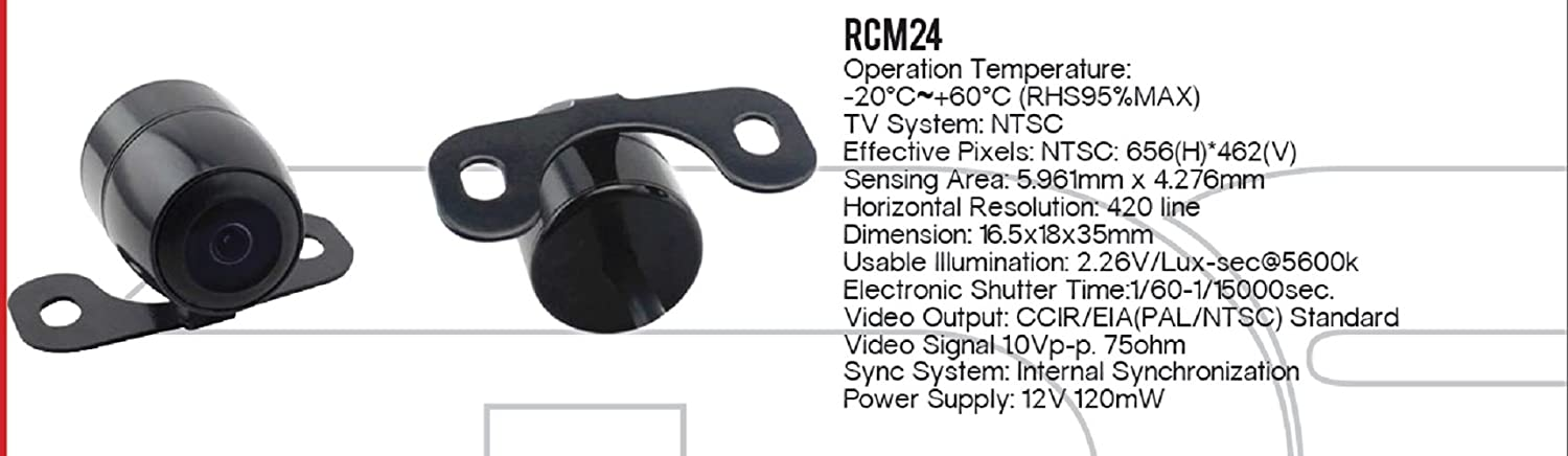 DS18  Red Cobra RCM24 Waterproof Nightvision Color Backup Camera