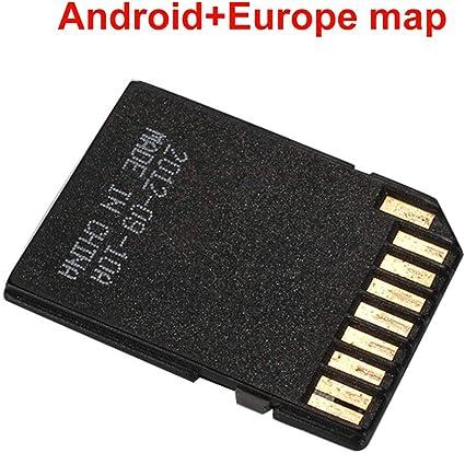 Gallocabe GPS de puce de carte de carte SD de navigation 16G avec la carte Android Europe du logiciel de navigation