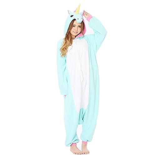 Minetom Mujer Hombre Animal Carnaval Disfraz Cosplay Unisex Adultos Unicornio Pijamas Ropa De Dormir Pijamas De